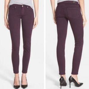 Paige Verdugo Ankle Skinny Jeans Plum / Wine